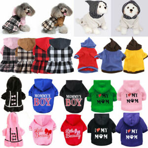 Puppy Dog Cat Jumper for Pets Sweater for Small Dogs Clothes Vest Hoodie Sweater