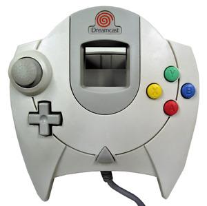 Genuine SEGA Dreamcast White/Grey Controller HKT-7700 - Red