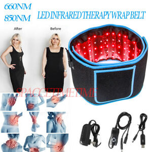 660Nm 850Nm Led Infrared Therapy Wrap Belt Pain Relief Weight Loss Body Beauty