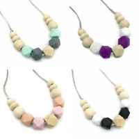 Silicone Teething Necklace Nursing Mom Jewelry Teether Baby Chewy Shower Gifts