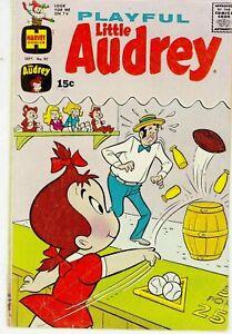 PLAYFUL LITTLE AUDREY #97 1971 HARVEY -BREAKING POINT-CARTOON CHARACTER ....VG-