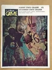 Albany State Savannah COLLEGE FOOTBALL PROGRAM - 1974 - EX