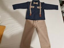 Baby Boy Smart Wedding Outfit Top Trousers Tie 18months
