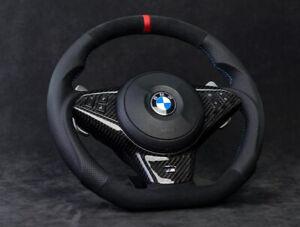 CUSTOM BMW E60 M5 E63 E64 M6 Performance Alcantara Steering Wheel Suede SMG S85