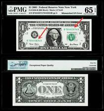 2001 $1 F R N -NY FR.#1926-B (5834) (5974) MISMATCHED S/N ERROR -PMG 65EPQ
