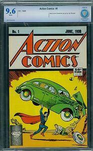 Action Comics 1 CBCS 9.6 - White Pages - 1988 Reprint