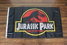 New listing Jurassic Park Banner Flag 3x5 Movie Film Dinosaur Logo Man Cave Ships from Usa