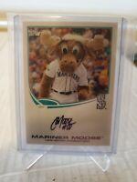 "2013 MLB TOPPS Mariner Moose MASCOT ""Seattle Mariners"" AUTO AUTOGRAPH MLB"
