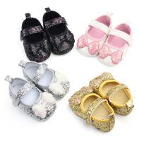 AU_ KQ_ Baby Girl Kids Sequins Bowknot Anti Slip Flat Shoes Prewalker Sneakers M