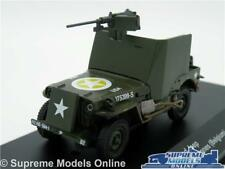ARMOURED JEEP MODEL CAR ARDENNES BELGIUM 1:43 SCALE 1945 MILITARY WILLYS K8