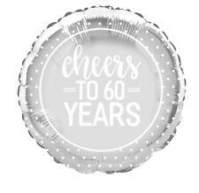 """60 anni 60th ANNIVERSARIO Diamante Decorazione Festa Matrimonio 18"""" Foil Balloon"""