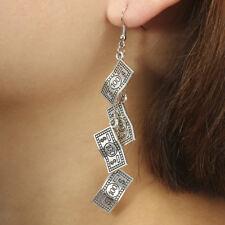 Vintage Dollar Coin Earrings Drop Dangle Earrings Charm Coin Ear Stud Jewelry Gn