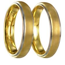 2 Wolfram bicolor silber/gold Verlobungsringe Trauringe gratis Innengravur 24020