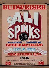 MUHAMMAD ALI vs. LEON SPINKS (2) : Original Budweiser Onsite Boxing Fight Poster