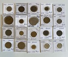 New ListingForeign World Coins, Lot of 20 Carded, F-Xf, Au, Nice Mix of Countries (7) 1800s