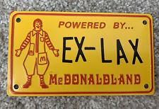 Vintage Ronald McDonald Powered By McDonaldland Bicycle License Plate