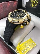 INVICTA Men's BOLT WATCH 52mm Gold/Black Genuine New 25687