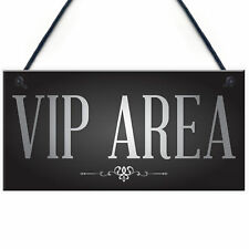 Vip Area Man Cave Home Bar Sign BBQ Beer Garden Party Dad Shed Fathers Day