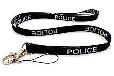 POLICE BLACK HIGH QUALITY LANYARD NECK STRAP Ideal for MOBILE ID KEY MP3