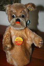 Steiff Hand-Mopsy Hund • KFS 6620/17 • Mopsy 17 cm • 1972-78 • Dog • Chien