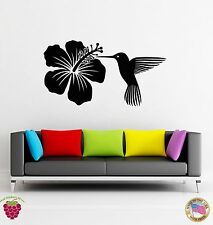 Wall Stickers Vinyl Decal Bird And Flower Cute Floral Decor For Bedroom (z1780)