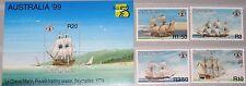 SEYCHELLES SEYCHELLEN 1998 835-8 Block 41 804-08 Sailing Ships Segelschiffe MNH