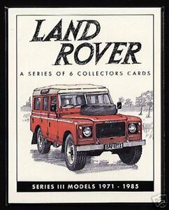 LAND ROVER SERIES 3 - Original Collectors Cards - 1971-85 models Station Wagon