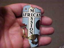 African Mission Bike Badge Headtube Emblem Name Plate acid etched brass