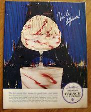 1962 Sealtest Ice Cream Ad Eiffle Tower Paris France