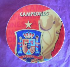 COLLECTABLE FRIDGE MAGNET SPAIN FIFA WORLD CUP WINNERS CAMPEONES - CERAMIC PLATE