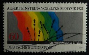 Timbre. Allemagne. n°865. Albert Einstein  année 1979.