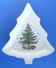 Nikko Christmas Tree Porcelain Holiday Serving Tray Dish. Made in Japan
