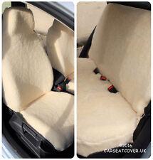 SHEEPSKIN LUXURY FAUX FUR FURRY CAR SEAT COVERS - UNIVERSAL FIT - FULL SET