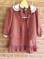 Vintage Girls Tartan / plaid sleeveless dress with jacket Her Majesty 5 yrs USA
