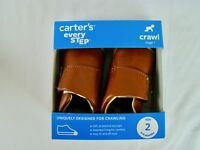 Carter's Every Step Stage 1 Girl's and Boy's Crawling Shoe Alex - Brown - Size 2