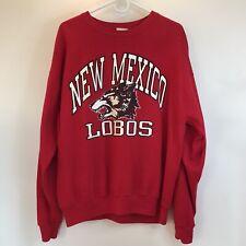 VTG New Mexico Lobos Crewneck Sweatshirt Red Size XL