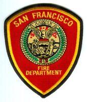 San Francisco Fire Department Patch California CA v2