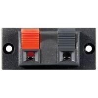 Lautsprecher Boxen Terminal für Lautsprecherkabel Boxenkabel Klemmleiste 2 fach