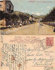 Messina - Viale S. Francesco di Paola RARA ANIMATA ANNO 1909 (A-L 324)