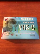 TDK Premium VHS-C 30 Min Camcorder Tape