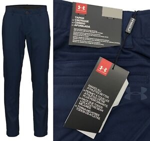 Under Armour UA Showdown Tapered Golf Trouser Pant - Navy - All Sizes RRP£65