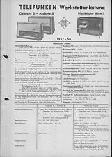 Telefunken Service Manual für Operette 8 - Andante 8 - Wien II