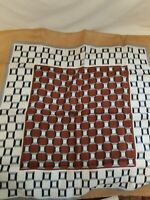 "Vintage Designer ""Tino Cosmo"" Silk  Hand Rolled Hem Scarf 25 x 25"