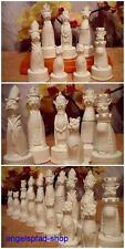 Katzen  roh Schachfiguren Schach Schachspiel basteln katze