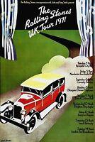 The Rolling Stones UK Tour Rare Authentic Original Concert Promo Poster 1971