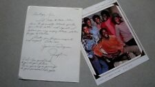 RALPH CARTER SIGNED 9x11 PHOTO & ALL SIGNED LETTER AUTOGRAPH GOOD TIMES MICHAEL