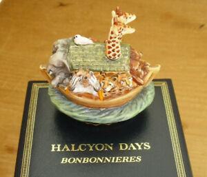 """Boxed Halcyon Days Noah's Ark Bonbonniere - <2 3/4""""(<7cms)"""