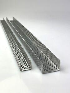 Aluminium 1,5mm dick U Profil Winkel Lochblech RV3-5 Kiesfang Rinne Leiste Alu