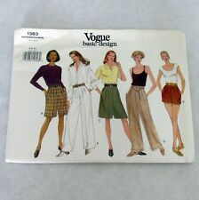 Vintage Vogue 1383 Pattern Misses Shorts Pants Size 6-8-10 Uncut 1990s