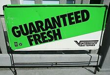 Interstate Batteries Guaranteed Fresh Double Sided Metal Gas Station Sign